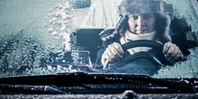 Bilförare under vintern